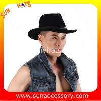 Best 2050378 Sun Accessory customized  winter 100% wool felt trendy fashion cowboy  hats  ,unisex hats and caps wholesaling wholesale