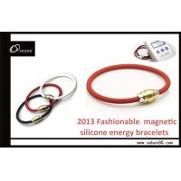 Best Gold and Stainless Steel Clasp Wrist Pure Titanium Energy Power Balance Silicone Bracelet wholesale