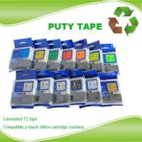 China 18mm laminated tz tape black on white tz241 tze241 tz-241 tape for brother p touch on sale