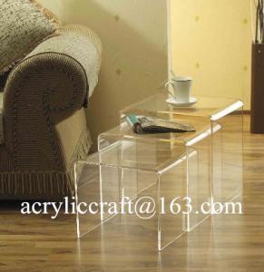 Best New transparent n shap acrylic furniture plexiglass coffee table wholesale