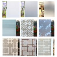 China Decorative graphics see through window glass film for home decoration on sale