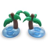 Best Mini Palm Tree Pool Floating Drink Inflatable Can Holder,for party,pool swimming,outdoor or indoor wholesale