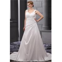 Best Classic Sweetheart A Line Ruffle White Plus Size Designer Wedding Gowns With Beaded Sweep Train wholesale