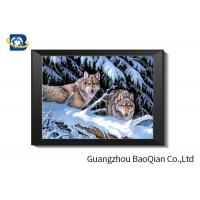 Best Wolf 5D Lenticular Printing Picture , 3D Deep Effect Lenticular Picture For Stock Picture wholesale