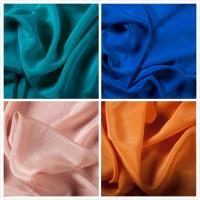 Best Solid Color 100% Silk Crepe De Chine Fabric For Garment in Stock wholesale