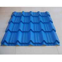 Best Durable Roman Tile Galvalume Steel Roofing Sheets Blue Prepainted , 1300mm * 420mm wholesale