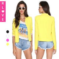 Early autumn new OL wind Slim short style small suit jacket women candy color wild blazer