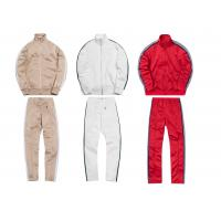 Best Custom Striped Breathable Mens Sports Tracksuits With Mountaineering Jackets wholesale