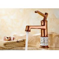 Best Single Handle Rose Gold Antique Basin Faucet Drinking Water Filter ROVATE wholesale