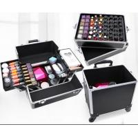 Best Fashion Large Makeup Case , Beauty Trolley Case With Drawers 350*260*710mm wholesale