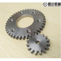 Best Simplex Row Straight Bevel Gear , 304 Stainless Steel Spur Gears Silver Color wholesale