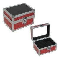 Best Aluminum Train Case Jewelry Box , Makeup Artist Travel Case With Tiered Bags wholesale