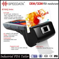 Best 4G Handheld Smart Card Reader , PDA Wireless Rfid Reader in Magnetic MSR Card wholesale