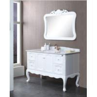 China White Luxury Bathroom Cabinet on sale