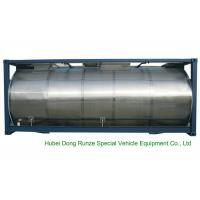 Cheap 316 Stainless Steel ISO Tank Container 20 FT For Wine / Fruit Juices / Vegetable Oils for sale