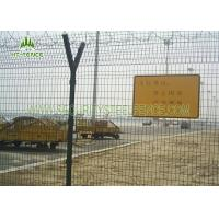 Best PVC Coated Welded Mesh Fence , Nolofor Type Peach Post 3D Wire Mesh Panel wholesale