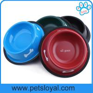 China High Quality melamine bowl for Pet paw print dog bowl Melamine material pet bowl on sale
