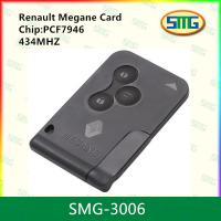 China Hot sale renault key card for renault megane 3 button smart card SMG-3006 on sale