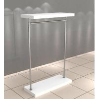 China Quality white Gloss paint MDF wood and brushed metal clothing store fixture on sale