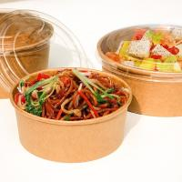 Best Disposable durable thickness warp up bowl for fast food to-go box fruit salad with clear lid wholesale