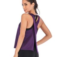 Best Ladies Wholesale Plain Sleeveless Tops Elastic Women Vest Yoga Tank Top wholesale