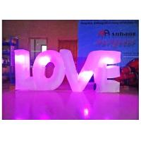 China Love Shape Inflatable Light Tube For Party Decoration 210d Fabric Material on sale