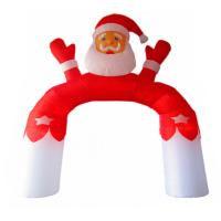 Best Customized Family Holiday Party Decoration Inflatable Santa Claus Arch wholesale