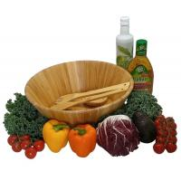 China Dishwasher Safe Durable Bamboo Serving Bowl , Wooden Salad Mixing Bowl on sale