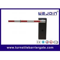 China Card Reader Car Parking Barrier Gate Aluminum Alloy Motor With Loop Detector on sale