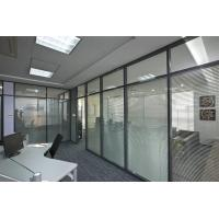 Best Soundproof Aluminum Glass Office Partitions Fire Prevention 2.5mm Wall Thickness wholesale