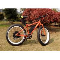 China High Speed 1000W Fat Tire Beach Bikes / Custom Mountain Bike With Super Fat Tires on sale