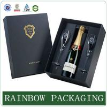 Best Luxury wine glass paper box packaging ,  paperboard box , factory custom wine box wholesale