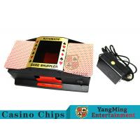 Best Black Color Durable Mechanical Card Shuffler Humane Design With Metal Materials wholesale