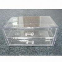 Buy cheap 2 Layers Cosmetic Box, Made of PS, Measures 23.5 x 15 x 11cm from wholesalers