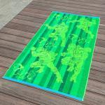 Best Full Color Printed Jacquard Beach Towel Luxurious Feel With Ninja Turtle Patterns wholesale