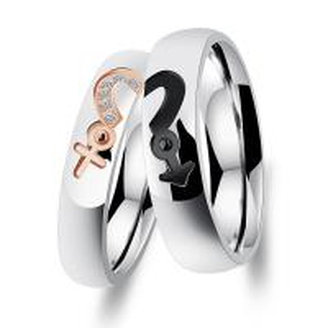 China Titanium Custom Couple Rings / No Diamond Engagement Rings For Anniversary on sale