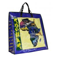 Best Africa Map PP Woven Shopping Bags Black Edge 4c Printing Recycle wholesale