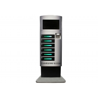 Best RK3288 CPU LCD Digital Signage 48 Slots Public Phone Charging Stations wholesale