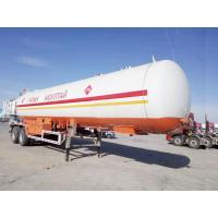 China 20T Propane Transport Trailer , Horizontal Bullet Propane Delivery Truck 40000 Liter Capacity on sale