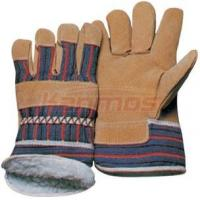 China Boa Lining heavy-duty industry working man Pig Winter Leather Gloves 21301 on sale