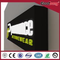 Cheap Custom plastic material Double side backlit rearlit LED Advertising sign board for sale