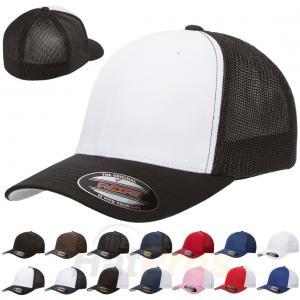 Best Spandex Cotton Mesh Trucker Hats Baseball Cap Plain Blank Curved Visor Flex Fit wholesale