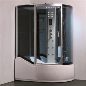 Single Glass Shower Cabin Shower Steam Room Enclosures With Slide Bar Tub