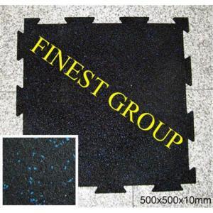 China Interlocking rubber flooring tile on sale
