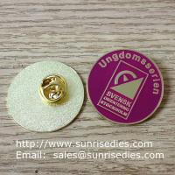 soft enamel Metal round pins