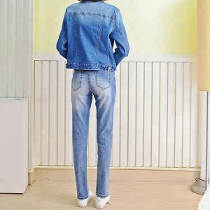 Best Color Fade Proof Women Denim Skinny Jeans , Pencil Fit Jeans For Ladies wholesale