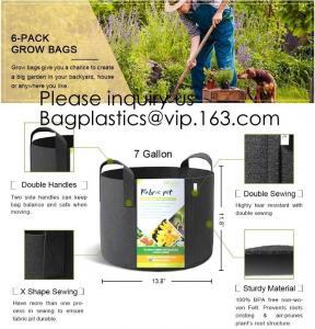 Best Felt Grow Bags, Aeration Fabric Ports Container Garden Potato Felt Grow Bag, 3 Gallon, 5 Gallon, 10 Gallon, 25 Gallon wholesale