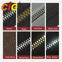 Best Smooth Sliding Metal Zipper For Garments Accessories , Polished Teeth Zipper Wholesale wholesale