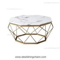 China Diamond  40cm 89cm Tempered Glass Stainless Steel Coffee Table on sale