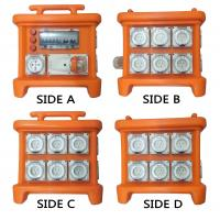 Best MK1 Portable Power Distribution System Rubber Box Orange Outdoor Distribution Board Stackable wholesale